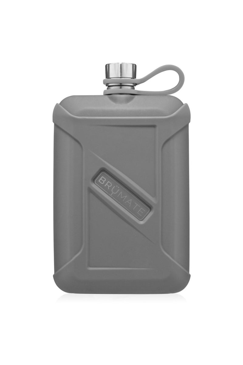 BruMate Liquor Canteen 8oz-Matte Gray - BluePeppermint Boutique