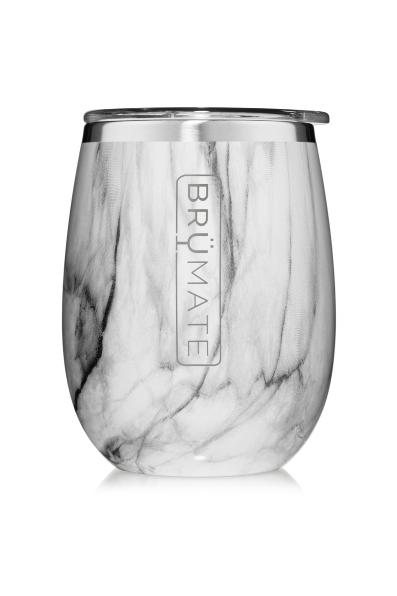 Brumate Uncork'd XL 14oz Wine Tumbler-Carrara - BluePeppermint Boutique