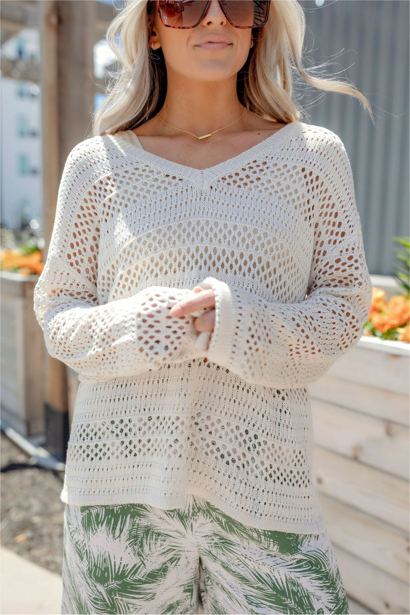 Crochet Sweater Top - BluePeppermint Boutique