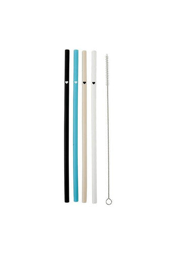 Silicone Straw Set 4pk - BluePeppermint Boutique