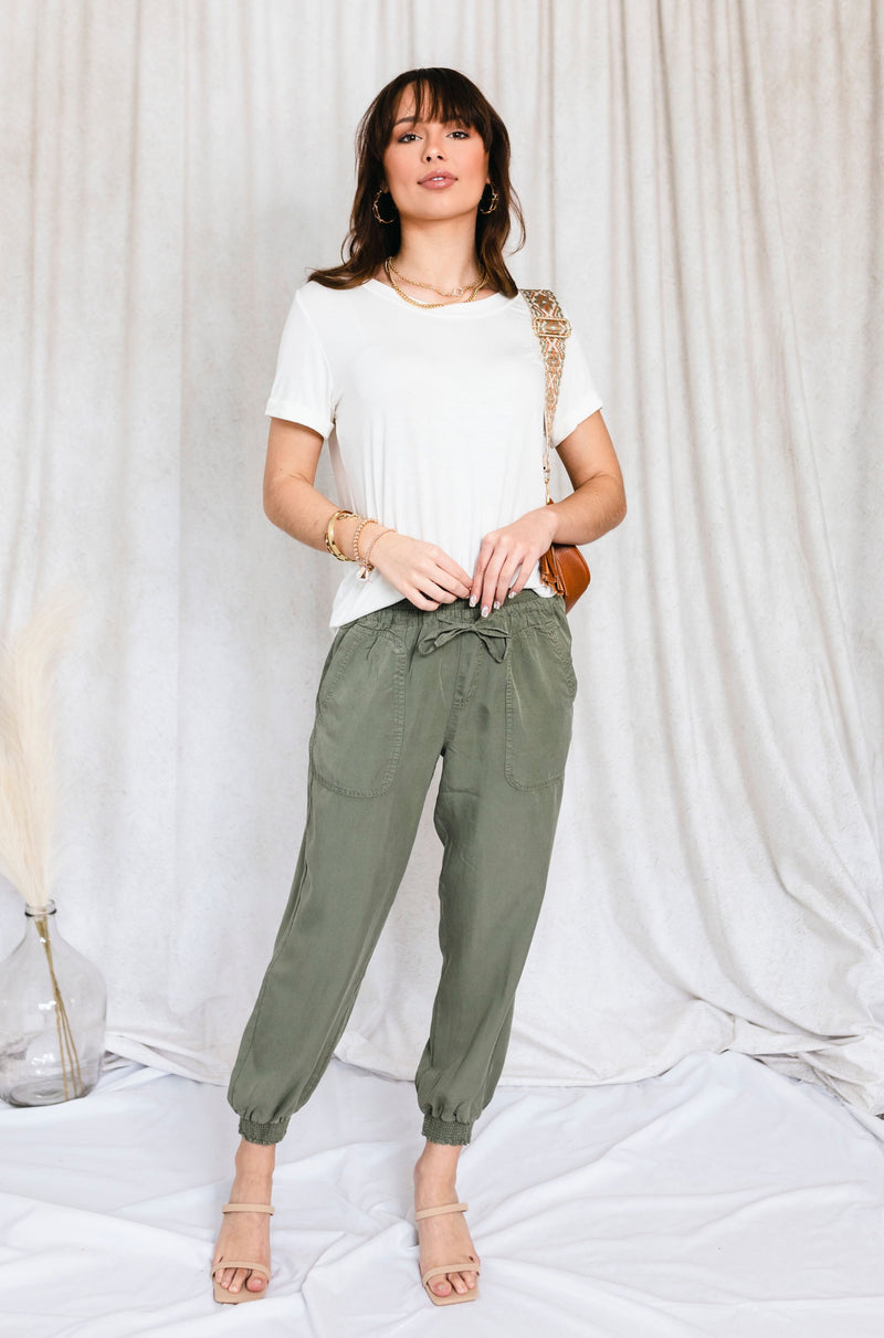 Dusty Sage Pleated Skirt Dress