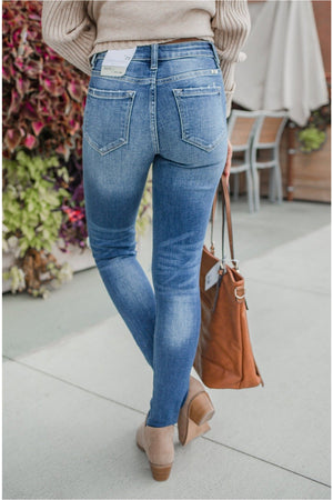 Gemma High Rise Super Skinny Jeans - BluePeppermint Boutique