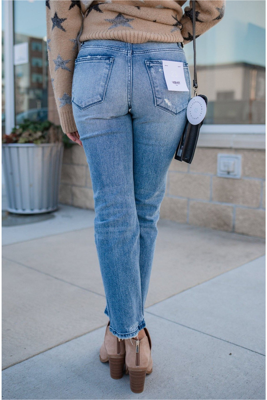 Deanna High Rise Slim Crop Straight Jeans - BluePeppermint Boutique