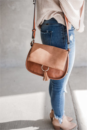 Ring and Tassel Crossbody Bag - BluePeppermint Boutique