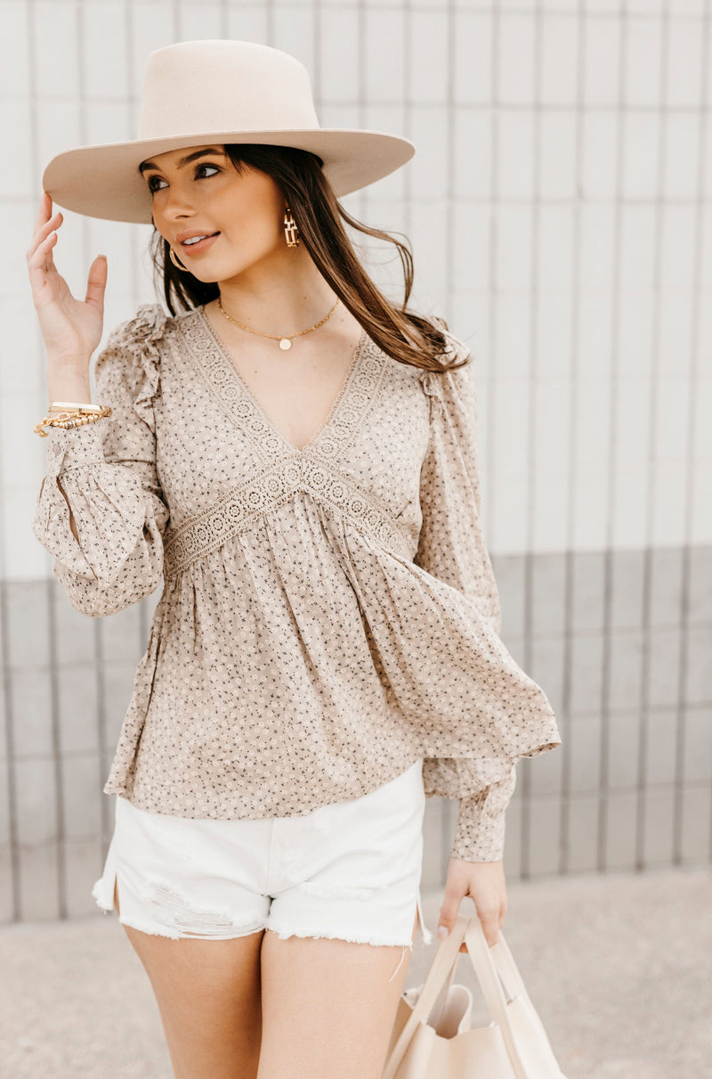 Black Ruffle Sleeve Blouse - BluePeppermint Boutique