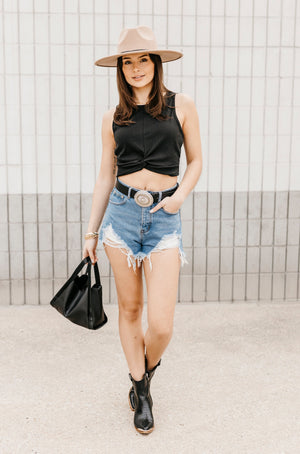 Animal Print Boat Neck Top - BluePeppermint Boutique
