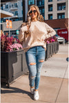 Long Sleeve Star Top - Oatmeal - BluePeppermint Boutique