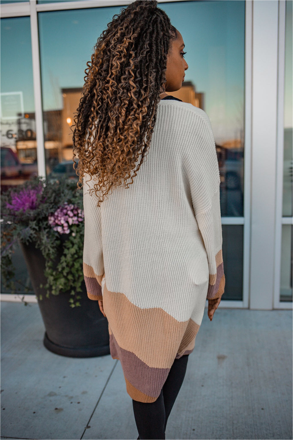 Vanilla Striped Long Cardigan