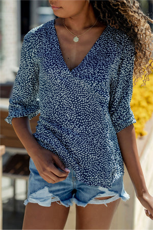 Tie Back Blouse - BluePeppermint Boutique