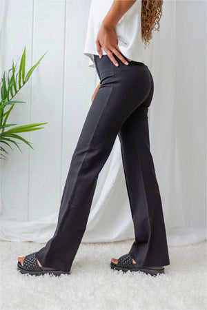 Spanx Hi-Rise Flare In Ponte-Classic Black - BluePeppermint Boutique