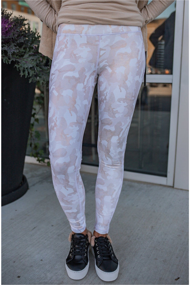 Camo Gold Foil Highwaist Leggings - BluePeppermint Boutique