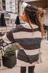 Oatmeal Striped Knit Cardi - BluePeppermint Boutique