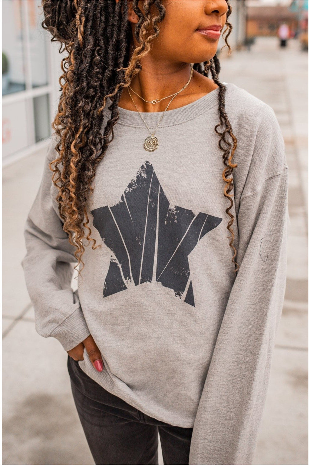 Vintage Graphic Star Sweatshirt