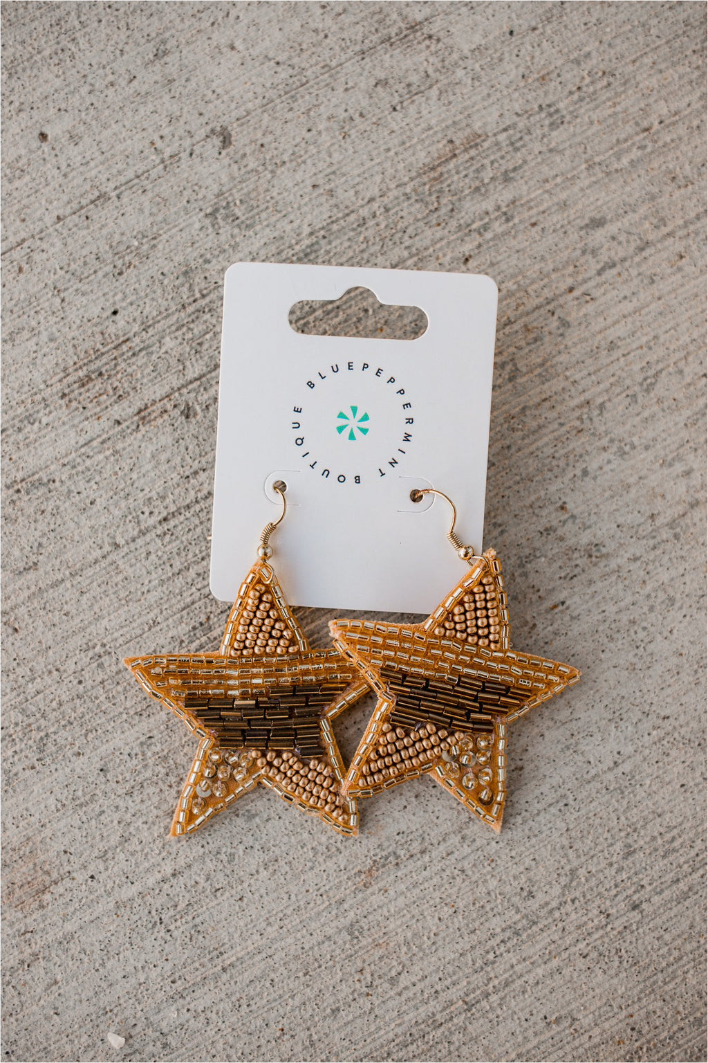 Star Seed Bead Earrings - BluePeppermint Boutique