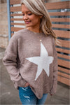 Mushroom Knit Star Sweater - BluePeppermint Boutique