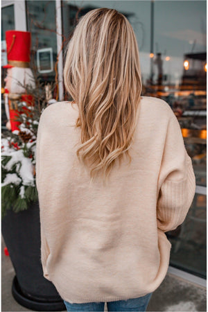 Ivory Knit Star Sweater - BluePeppermint Boutique