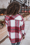 Plaid Shacket - Wine - BluePeppermint Boutique