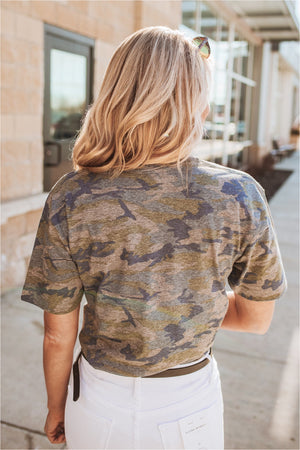 Vintage Camo Mama Tee - BluePeppermint Boutique