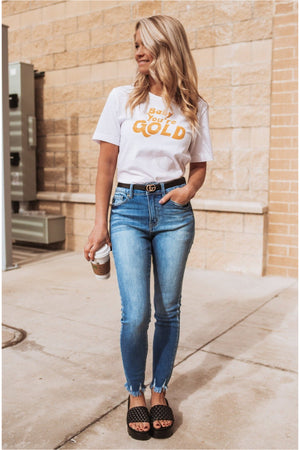 Baby You're Gold-White - BluePeppermint Boutique