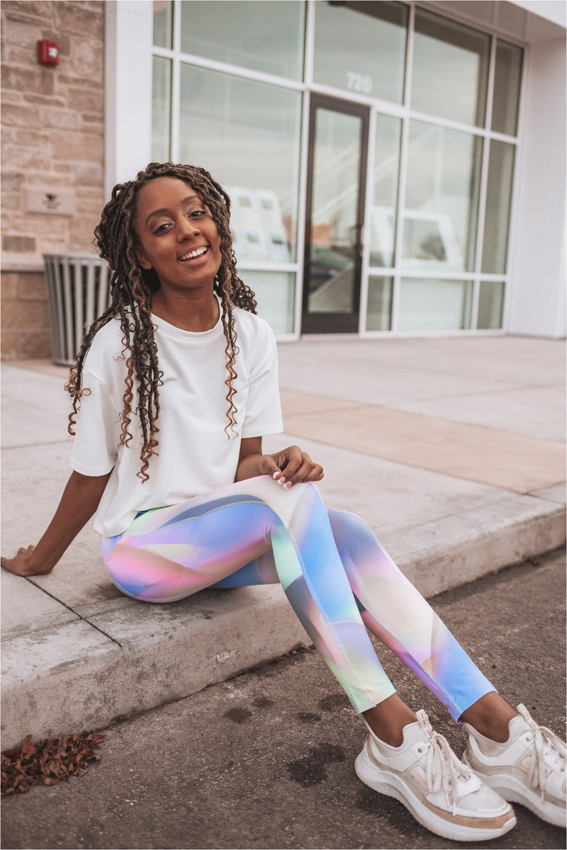 Ombre Kaleidoscope One Highwaist Leggings - BluePeppermint Boutique
