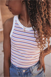 Red/Blue Stripe Ribbed Tank - BluePeppermint Boutique