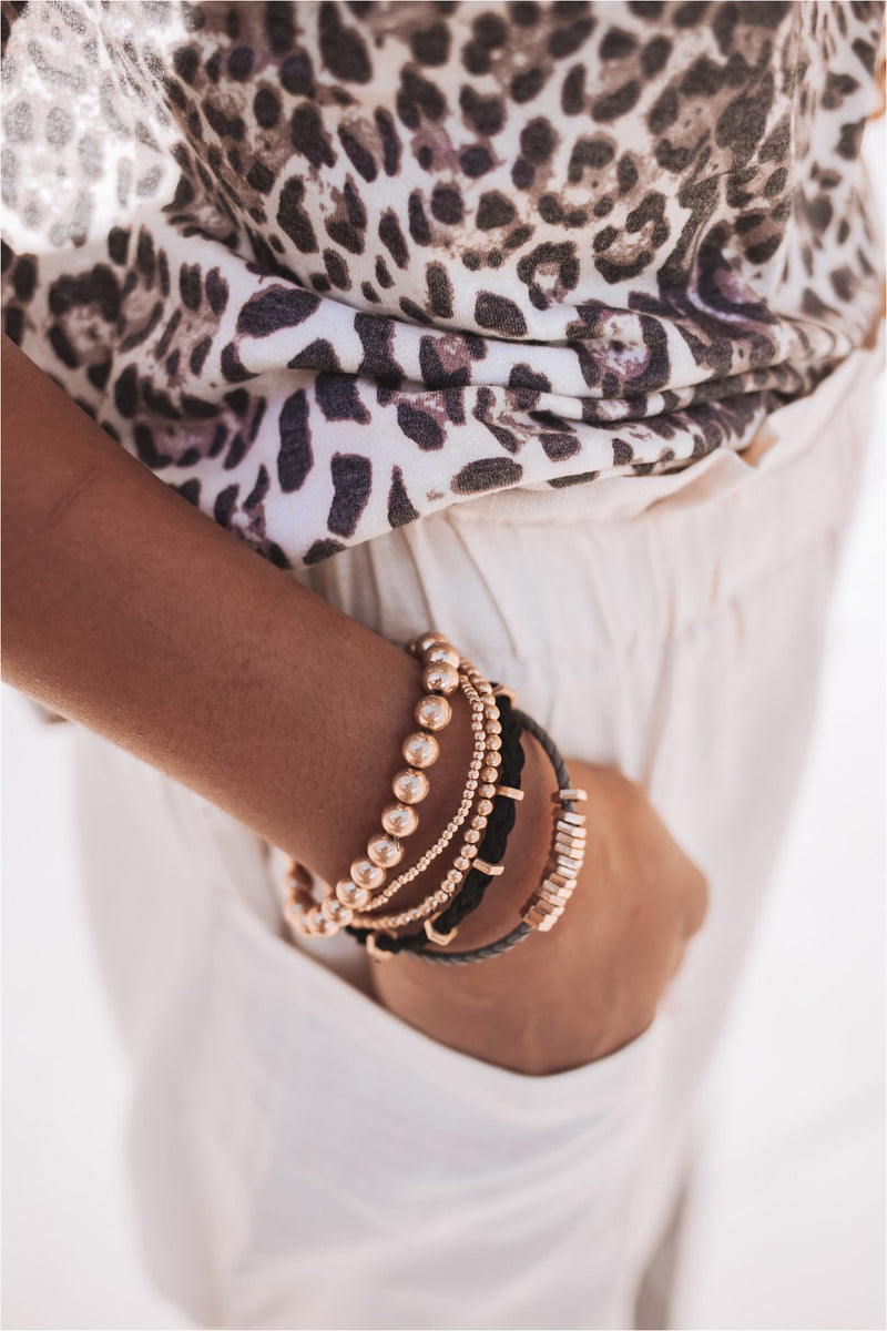 Black Braided Bracelet Stack - BluePeppermint Boutique