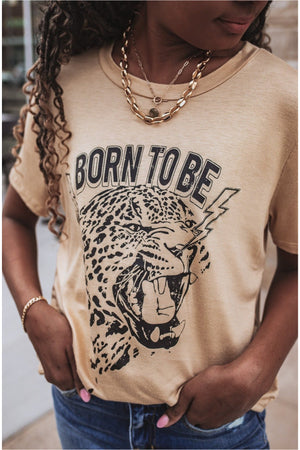 Toffee Leopard Graphic Tee - BluePeppermint Boutique