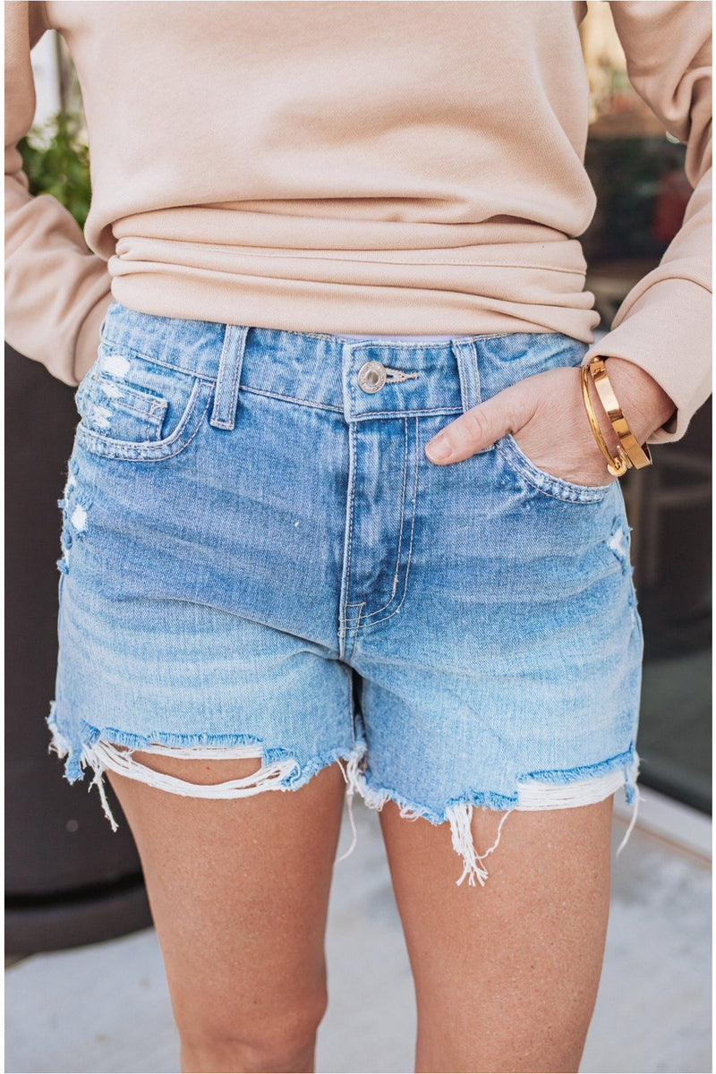 Rectify Boyfriend Denim Shorts - BluePeppermint Boutique