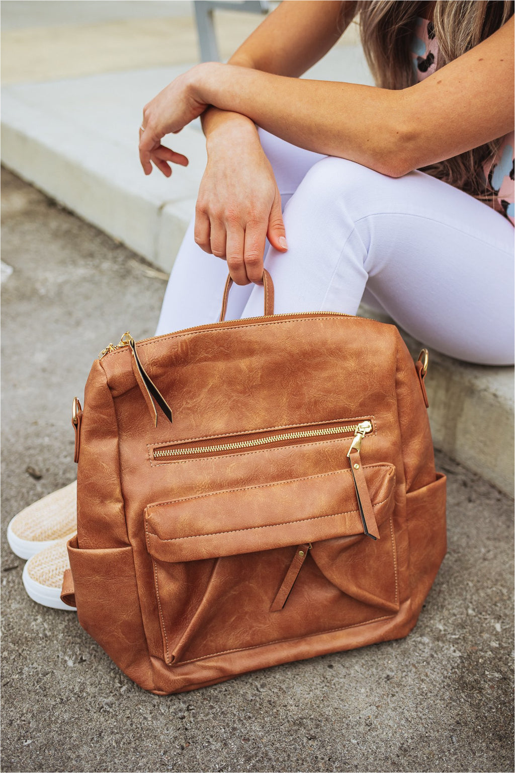 Casual Versatile Backpack-Brown - BluePeppermint Boutique