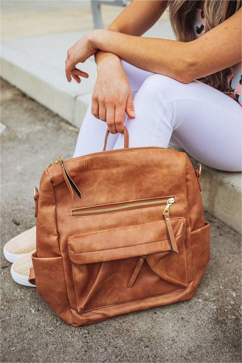 Casual Versatile Backpack-Brown