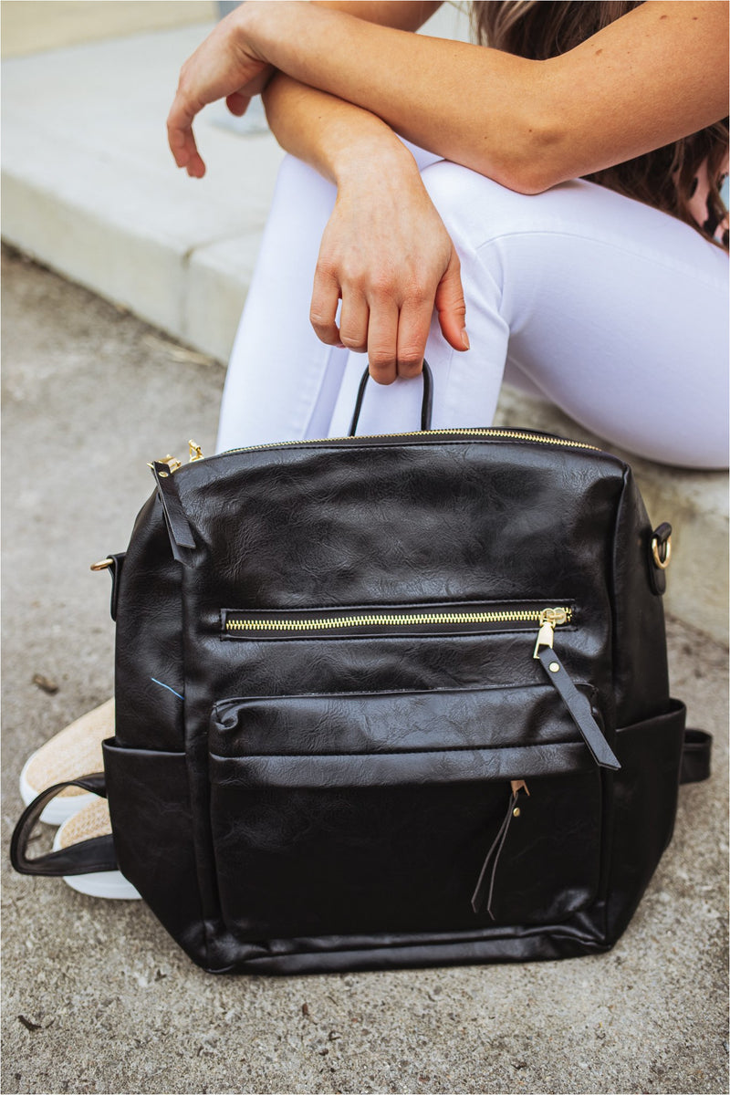 Casual Versatile Backpack-Black