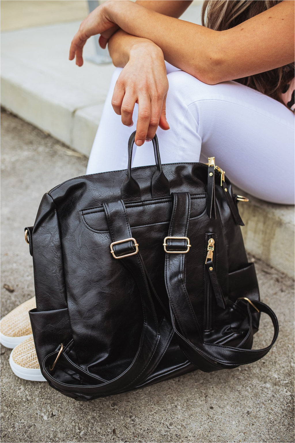 Casual Versatile Backpack-Black - BluePeppermint Boutique