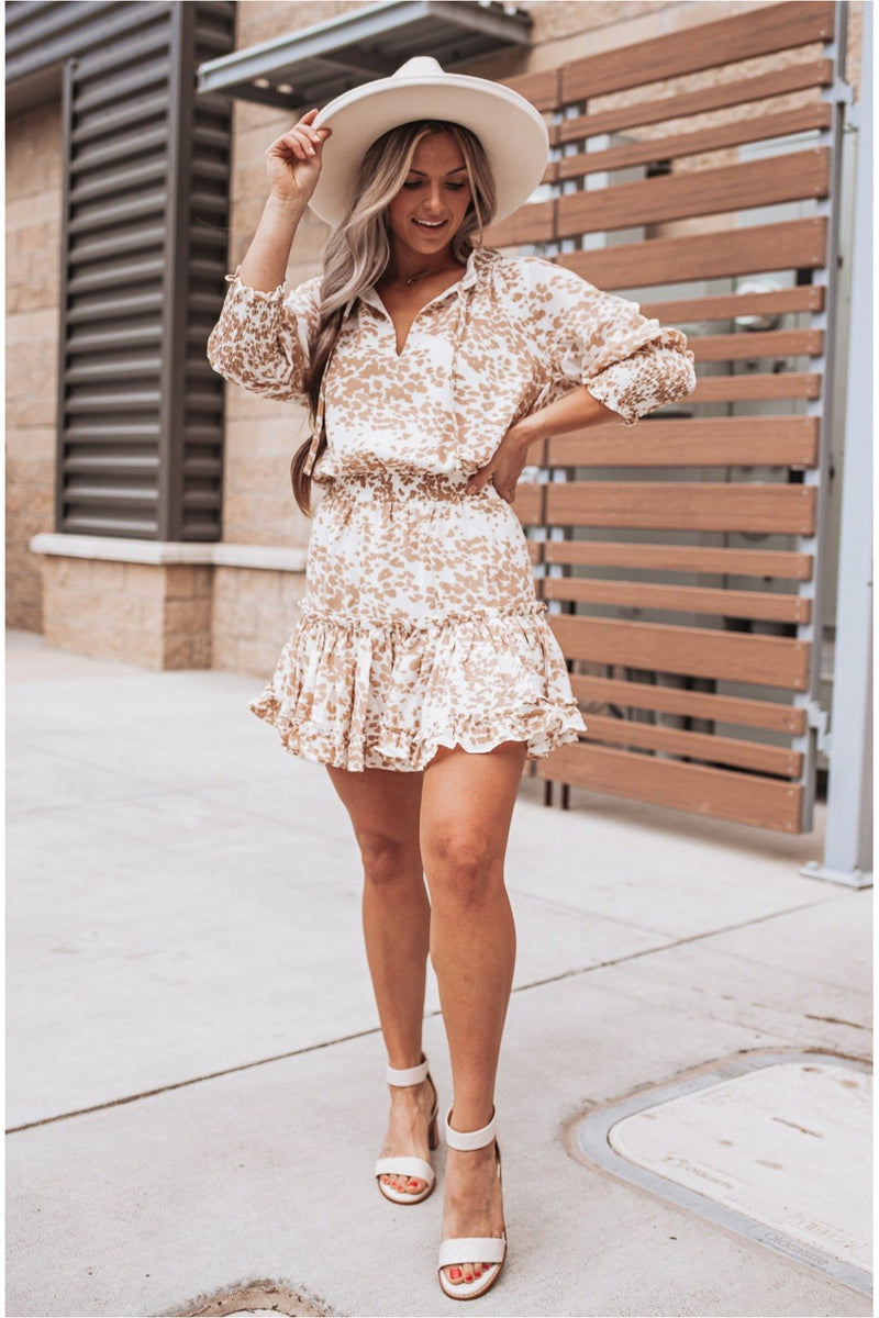 Bronx Cowhide Dress - BluePeppermint Boutique