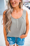 Thermal Button Tank - Olive