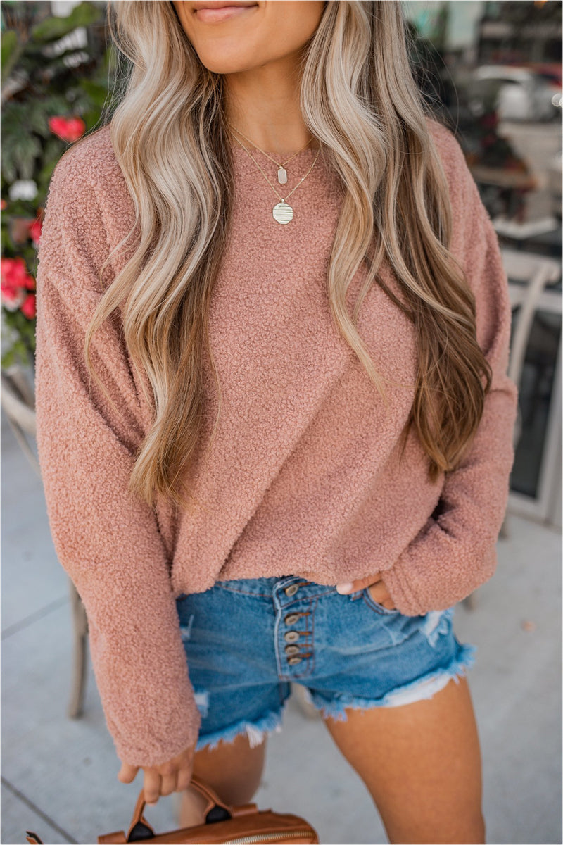 Teddy Pullover - Rose - BluePeppermint Boutique