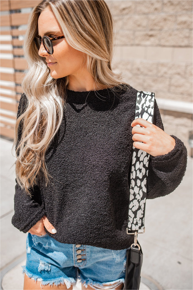 Teddy Pullover - Black - BluePeppermint Boutique