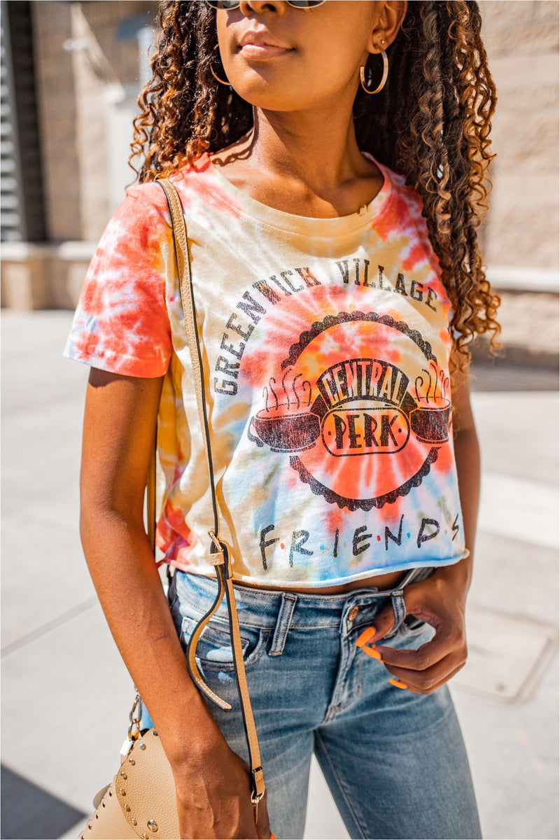Friends Central Perk Crop Tee - FINAL SALE - BluePeppermint Boutique