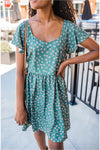 Olive/Lavender Floral Dress - BluePeppermint Boutique