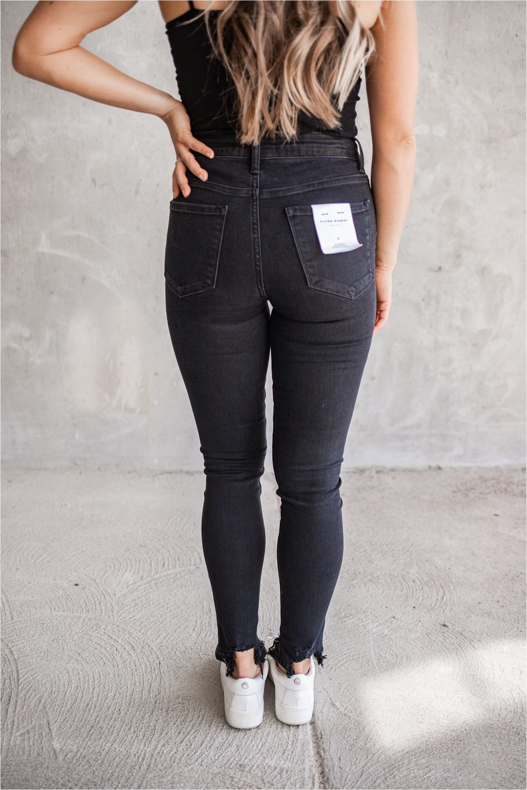 Memories Black Button Fly High Rise Jeans - BluePeppermint Boutique