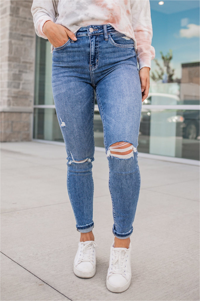 Better Together High Rise Ankle Skinny Jean - BluePeppermint Boutique