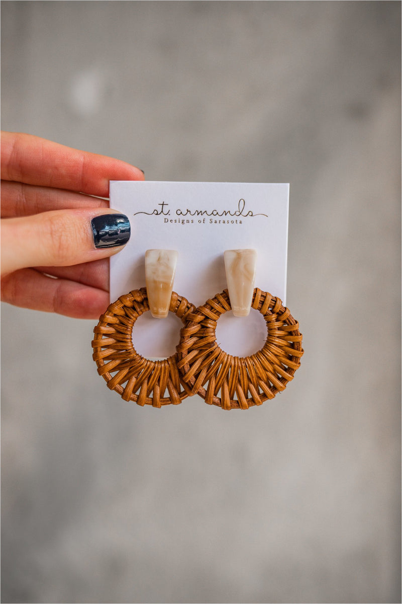 St. Armands Cream Bali Button Studs - BluePeppermint Boutique