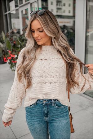 Chenille Cropped Pullover Sweater - BluePeppermint Boutique