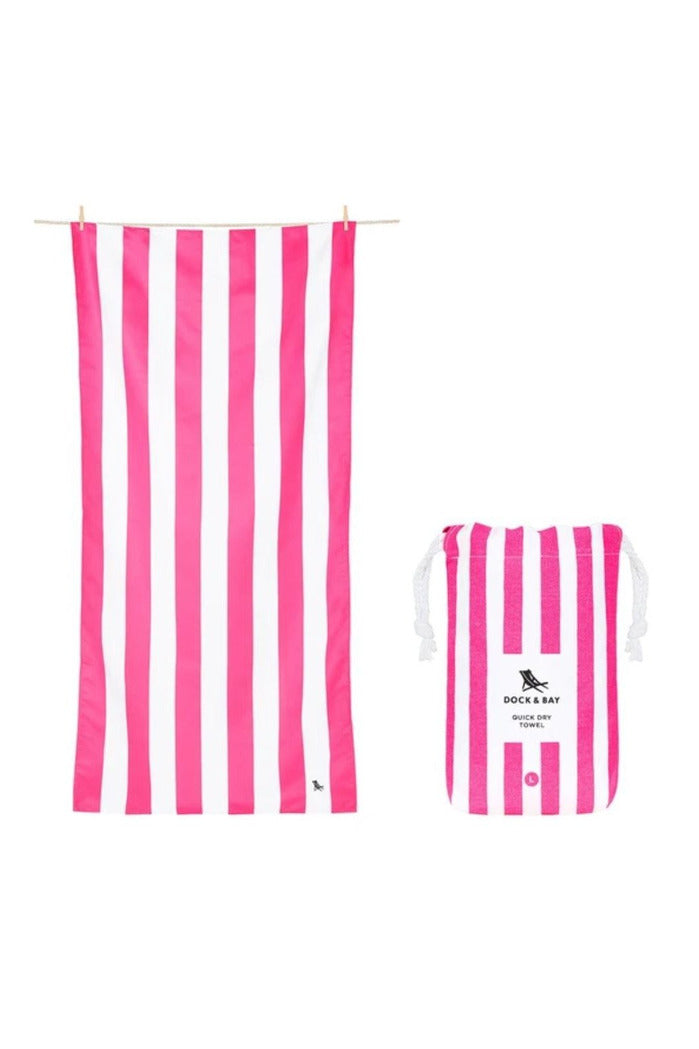 Dock & Bay Cabana Collection Towel- Phi Phi Pink - BluePeppermint Boutique