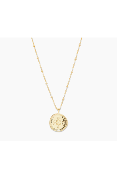 Gorjana Compass Coin Necklace