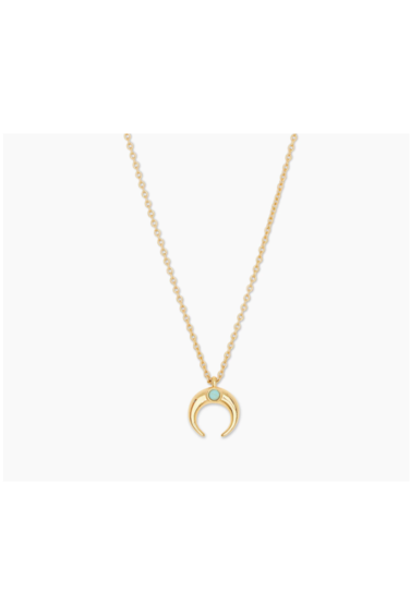 Gorjana Cayne Crescent Charm Necklace