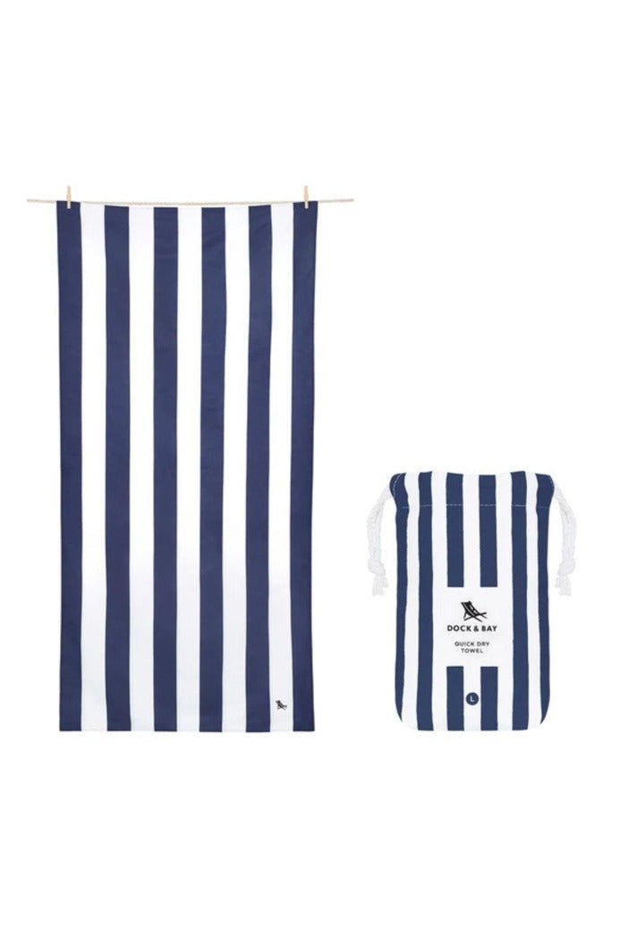 Dock & Bay Cabana Collection Towel-Whitsunday Blue - BluePeppermint Boutique