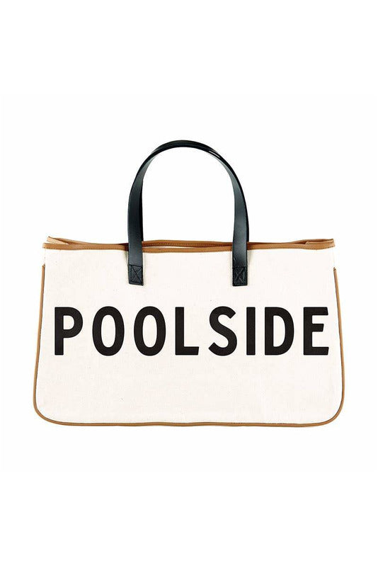 Canvas Tote - Poolside - BluePeppermint Boutique