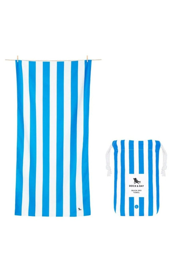 Dock & Bay Cabana Collection Towel-Bondi Blue - BluePeppermint Boutique