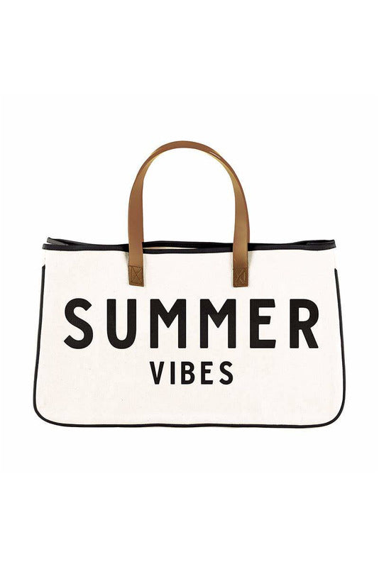 Canvas Tote - Summer Vibes - BluePeppermint Boutique