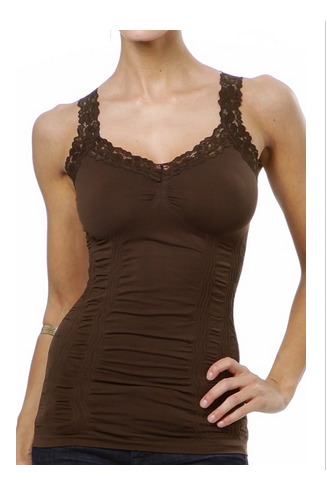 Cami with Corset and Lace Strap - BluePeppermint Boutique